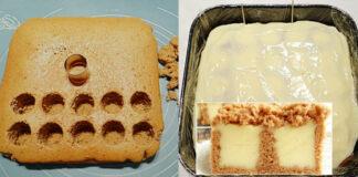 Nuostabaus skonio pyragas su vaniliniu pudingu, išbandykite
