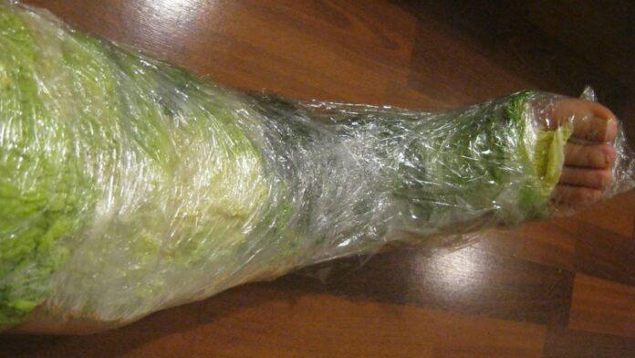Jei įvyniosite kojas į kopūstų lapus, išspręsite daugybę sveikatos problemų