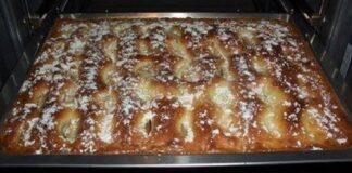 Originalus obuolių pyragas. Toks skanus, kad varžosi su tortu!