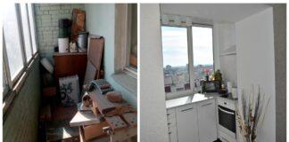 Žmonės išmėtė nereikalingus daiktus iš balkono ir ten įsirengė virtuvę