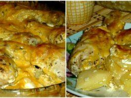 Bulvės su vištiena orkaitėje. Sultingas ir labai skanus patiekalas