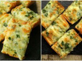Sūrio ir česnako duona. Tik keli ingredientai skaniam užkandžiui