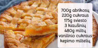 Abrikosų pyragas. Greitas ir paprastas, bet labai skanus desertas!
