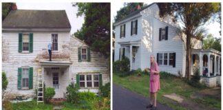Visi kaimynai susirinko ir padėjo atnaujinti pensininkų namus