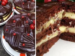Purus tortas su kremu, kuriam nereikia orkaitės. Tiesiog tirpsta burnoje!