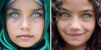 Turkų fotografas įamžino vaikus, kurių akys spindi kaip brangakmeniai