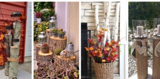 Dekoracijų idėjos iš medžio, kurios puikiai tiks namams rudenį