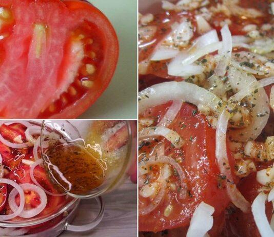 Pats geriausias užkandis: aštrūs pomidorai su svogūnais!