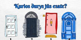 Pasirinkite duris ir sužinokite, koks žmogus jūs esate!