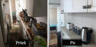 Baisiai nešvarų, ilgus metus nevalytą namą darbuotojai tvarkė 50 valandų