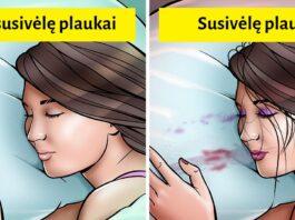 Problemos, kurias galite patirti, jei eisite miegoti nenusivaliusi makiažo