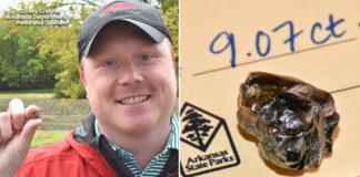 Amerikietis parke rado 9 karatų deimantą. Pagal įstatymus - deimantas priklauso jam