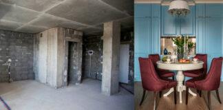 Moteris seną vieno kambario butą pavertė idealiais namais