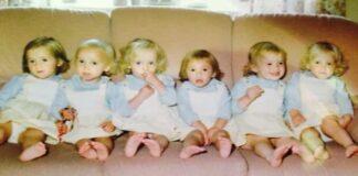 Pora vienu metu susilaukė šešių mergaičių: kaip jos atrodo po 35 metų?