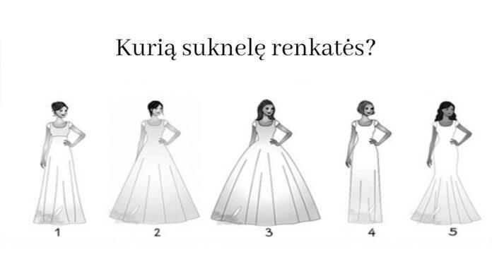 Testas: išsirinkite vestuvinę suknelę ir sužinokite, kokia moteris esate