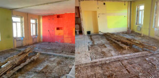 Pora pertvarkė butą, kuriame nebuvo nei sienų, nei grindų