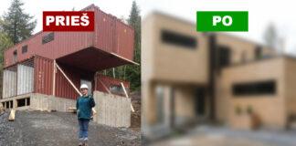 Mergina pastatė namą iš jūrinių konteinerių. Rezultatas tiesiog nuostabus!