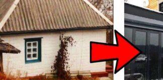 Pora seną namą pavertė prabangiu dviejų aukštų nameliu