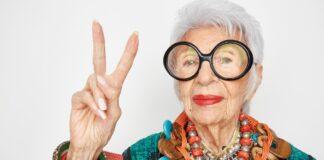 Iris Apfel 99 metų stiliaus ikona, kuri atskleis 10 pamokų iš savo gyvenimo