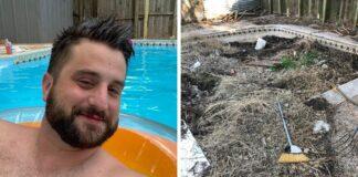 Vyras nusipirko namą, kad jį perparduotų, tačiau persigalvojo, kai kieme rado baseiną