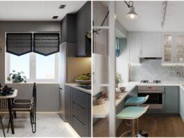 Maža erdvė ir racionalūs sprendimai: kaip įrengti virtuvę, kurios plotas 4-5 kv. m?