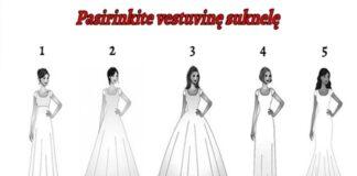 Išsirinkite vestuvinę suknelę ir sužinokite, kokia moteris esate
