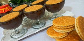 Šokoladinis desertas su sausainiais. Paprasta, greita ir gardu!