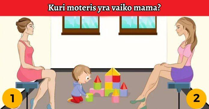 Testas: kuri moteris yra žaidžiančio vaiko mama?