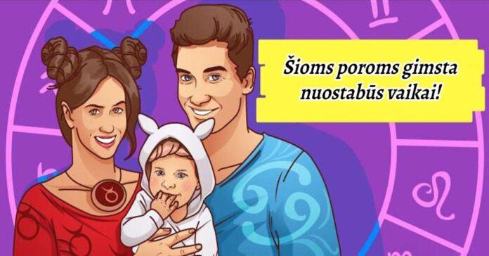 Šioms 3 Zodiako ženklų poroms gimsta labai gražūs vaikai