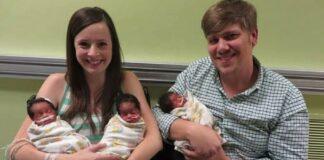 Moteris pagimdė 3 sveikus vaikus. Bet kai vyras atidžiau pažvelgė į jų veidus, buvo šokiruotas!