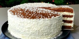 Šokoladinis pyragas su kremu. Šeima susipeš dėl paskutinio gabalėlio!