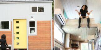 Stiuardesė persikėlė į miške esantį 14 kvadratinių metrų namą. Pažiūrėkite, koks jo vidus!