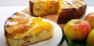 Pyragas su obuoliais ir apelsinais. Burnoje tirpstantis skonis