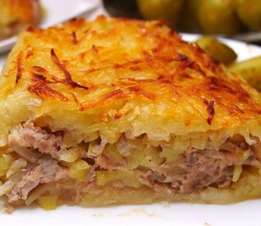 Mėgstamiausias vyro patiekalas: mėsos užkepėlė su kopūstais