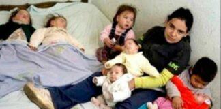 Būdama 17 metų jauna moteris jau turėjo septynis vaikus: kaip jai sekasi dabar?