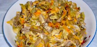 Vištienos kepenėlių salotos. Labai skanus ir sotus patiekalas