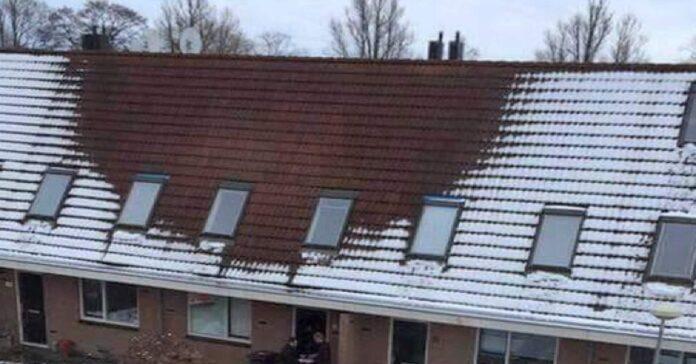 Priežastis, kodėl ant stogo nutirpo sniegas, nustebino visus