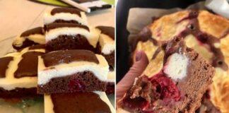 Burnoje tirpstantis itin purus varškės pyragas su vyšniomis
