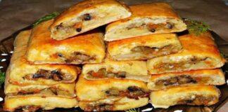 Bulvių pyragėliai su grybais. Labai skanus ir greitas patiekalas!