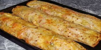 Pitos duona su mėsa ir daržovėmis. Orkaitėje keptas patiekalas jūsų stalui