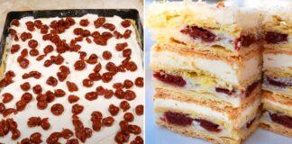 Subtilaus skonio pyragas su vyšnių kremu. Papuoš jūsų vaišių stalą