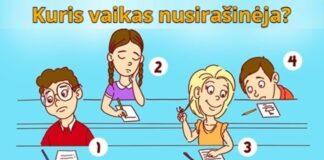 Linksmas testas, kuris iš vaikų nusirašinėja?