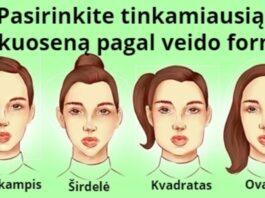 Tinkama šukuosena pagal veido formą. Išmokite pasirinkti!