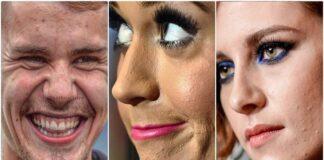 Spuogai, raukšlės ir kosmetinė chirurgija: kaip iš tikrųjų atrodo įžymybės veidas?