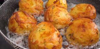 Nepaprastai skanus garnyras: keptos bulvės tešloje