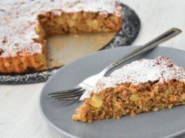 Avižinių dribsnių pyragas su obuoliais. Sveikas ir skanus desertas