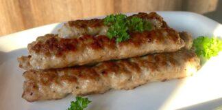 Maltos mėsos dešrelės, keptos keptuvėje