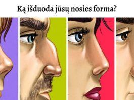 Testas: pasirinkite, kuri nosies forma panašiausia į jūsiškę