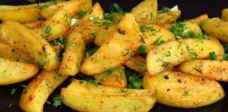 Graikiškai keptos bulvės. Tokios skanios, kad valgysite jas vienas