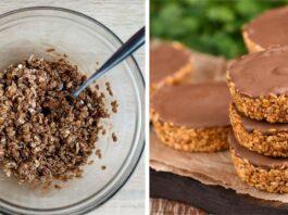 Avižiniai sausainiai su šokoladu ir kondensuotu pienu. Nereikia kepti!